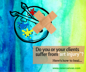 Do you or your clients suffer from art injury?  Here's how to heal....