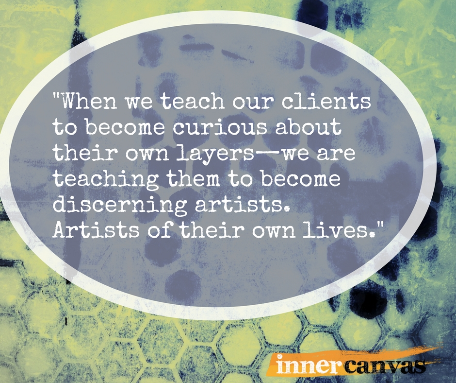 Do you teach your clients to be artists?