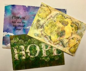 Hope Filled Postcard Art Exchanged
